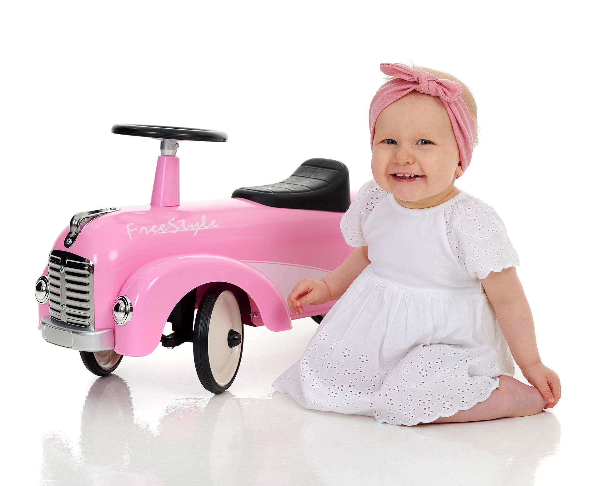 Lykken er en rosa bil